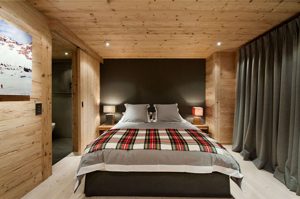 Chalet Gstaad Kamar Tidur Gaya Rustic Oleh Ardesia Design Rustic