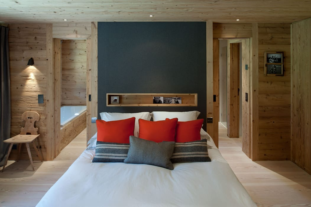 Chalet Gstaad Chambre rustique par Ardesia Design Rustique