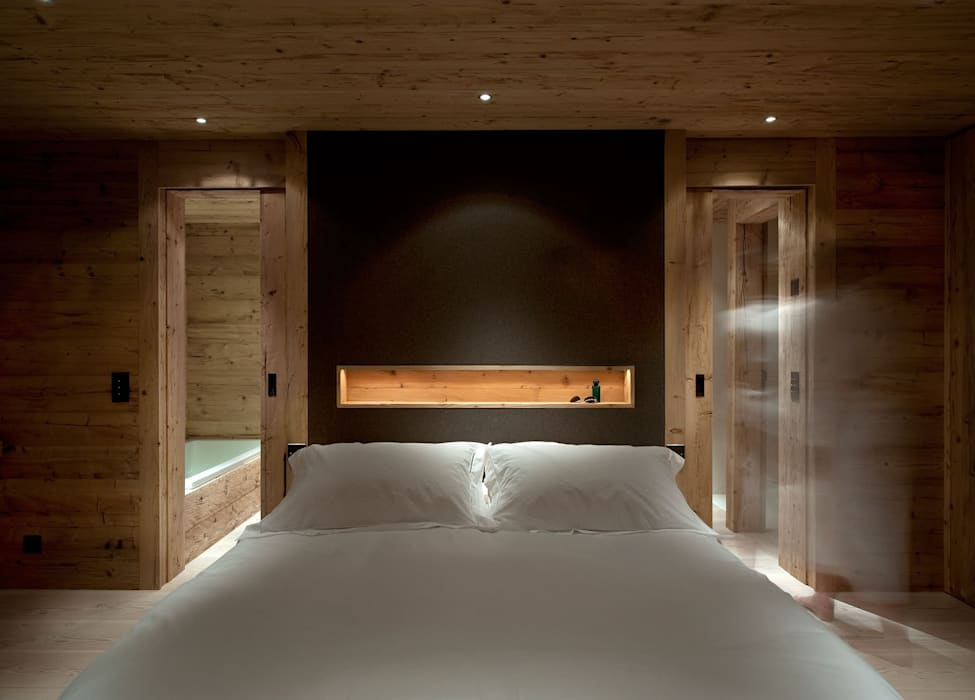Chalet Gstaad Ardesia Design Rustic style bedroom