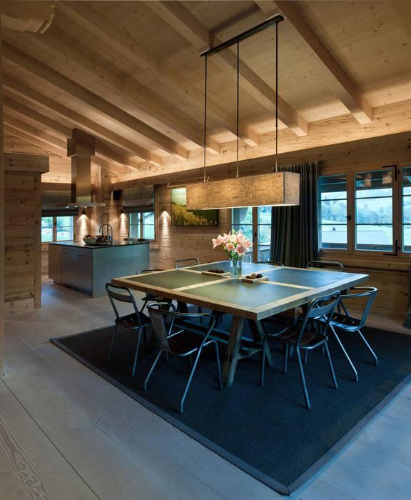 Chalet Gstaad Ardesia Design Salle à manger rustique