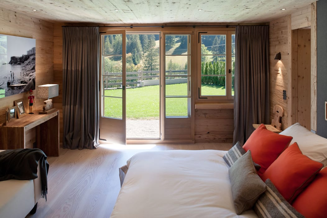 Chalet Gstaad Rustic style bedroom by Ardesia Design Rustic