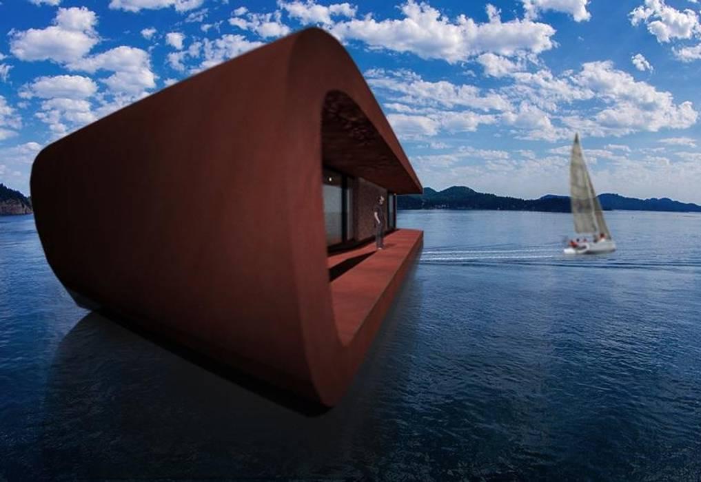 prospetto retro: Yacht & Jet in stile in stile Moderno di  Giovanni Lucentini piccolo studio di architettura di 7 mq.