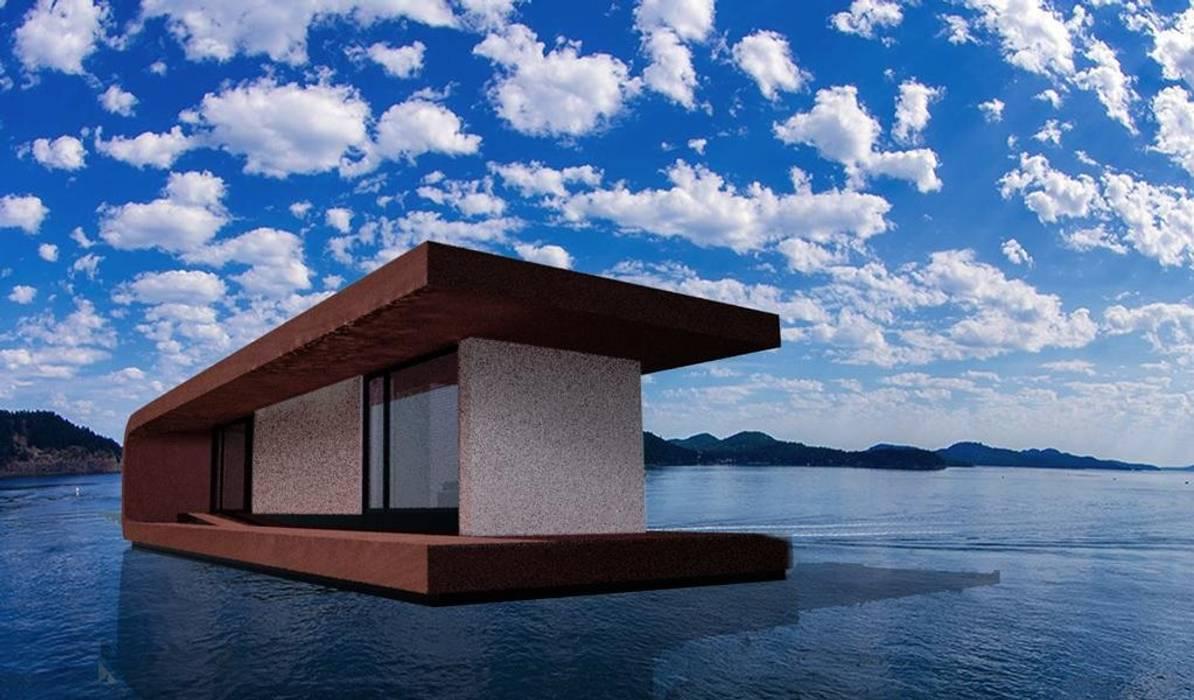 prospetto forntale: Yacht & Jet in stile in stile Moderno di  Giovanni Lucentini piccolo studio di architettura di 7 mq.