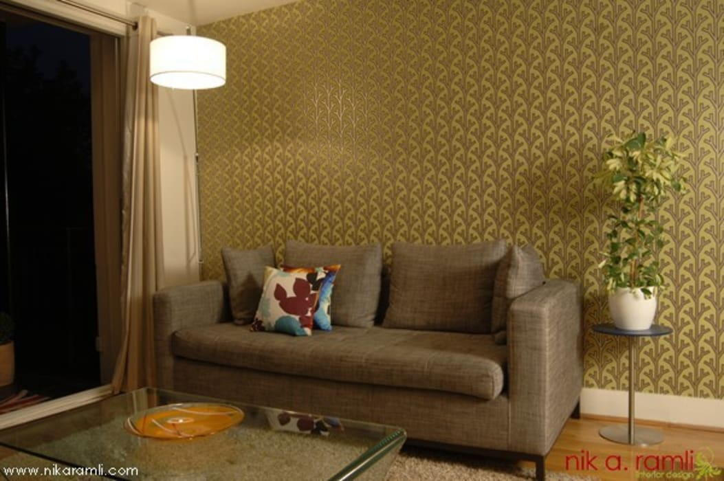 Colours Of Love Modern living room by Nik A Ramli Interior Design Modern