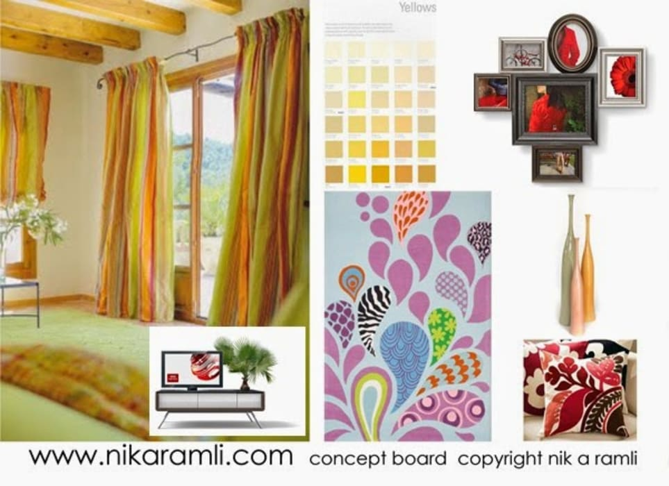Mood Board Modern style bedroom by Nik A Ramli Interior Design Modern