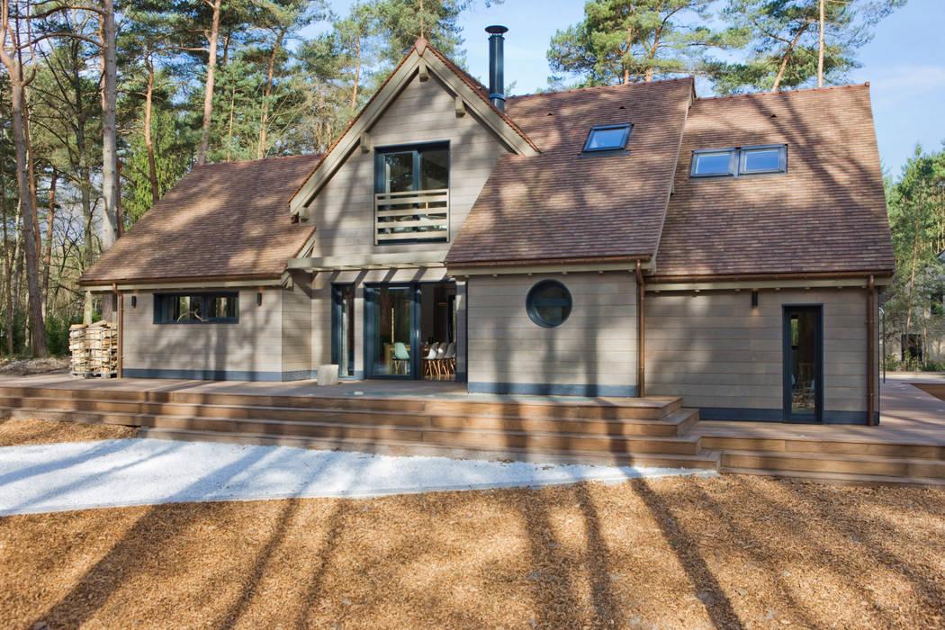 Maison ossature bois Maisons modernes par blackStones Moderne