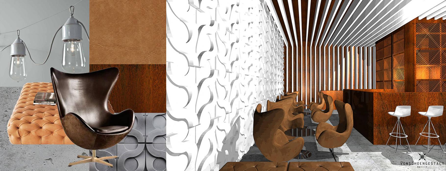 Entwurf und Konzept Bar in Berlin:  Gastronomie von Büro VonSchöngestalt