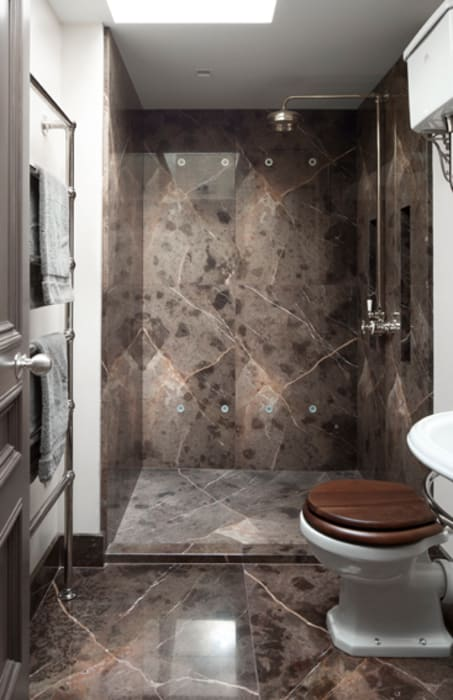 Gilston Road, Mendip shower room: modern Bathroom by Britannicus Stone