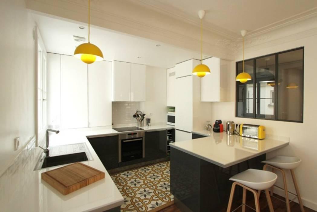 Appartement Parisien Cuisine Moderne Par Camille Hermand