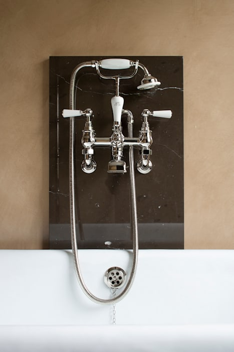 Gilston Road, Salterwath bath detail Modern bathroom by Britannicus Stone Modern