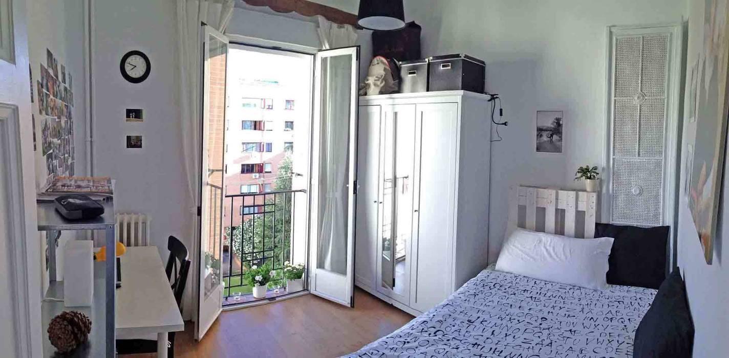 dormitorio en Retiro, Madrid: Dormitorios de estilo  de CarlosSobrinoArquitecto