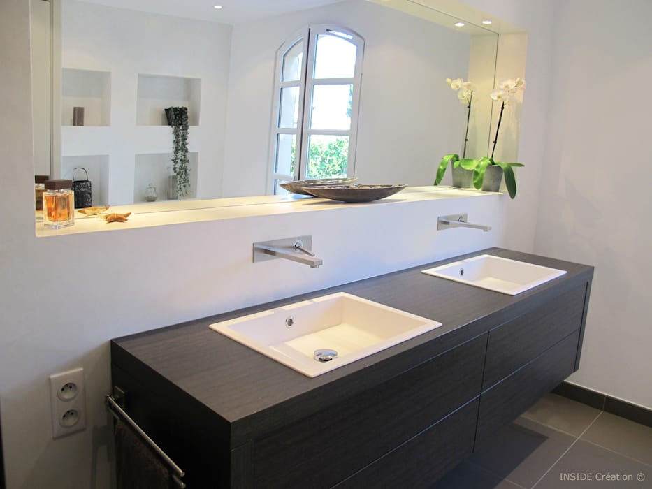Salle de bain béton ciré Salle de bain moderne par INSIDE Création Moderne