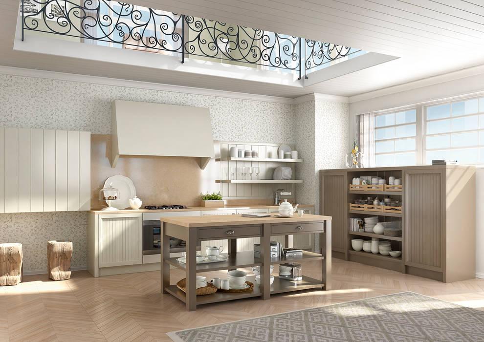 NUANCE DECO': Cucina in stile in stile Eclettico di AURORA CUCINE