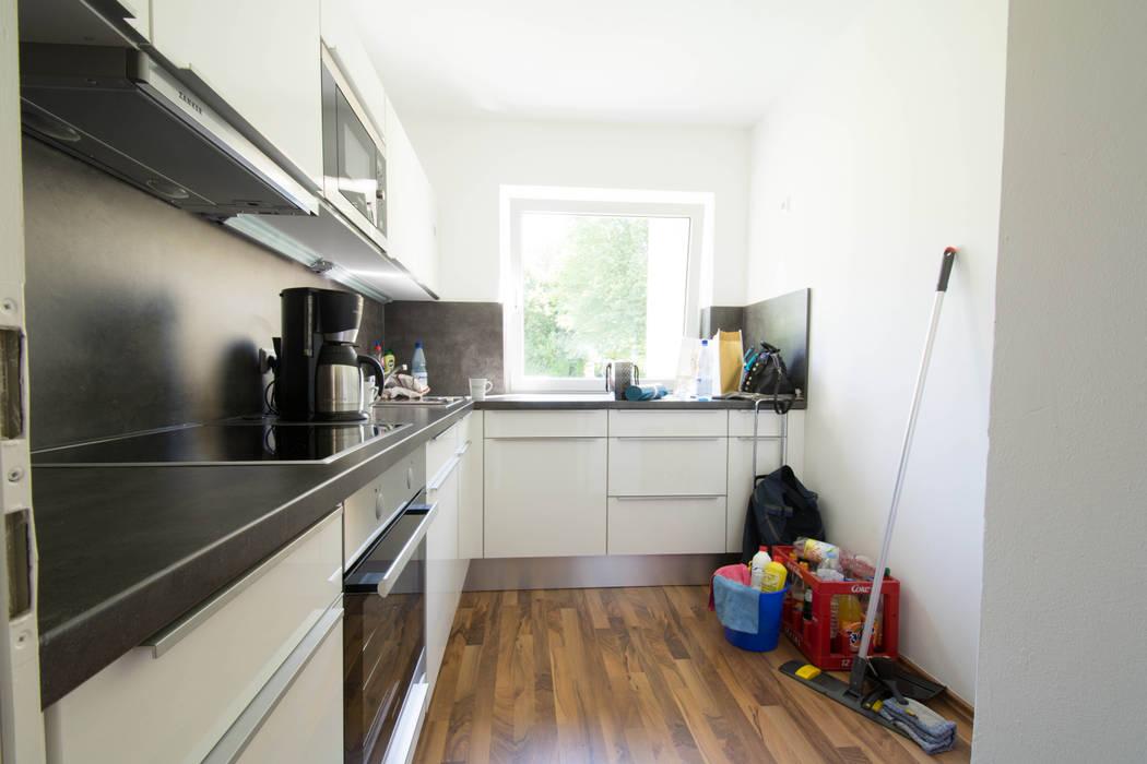 Küche vorher:  Küche von Luna Homestaging