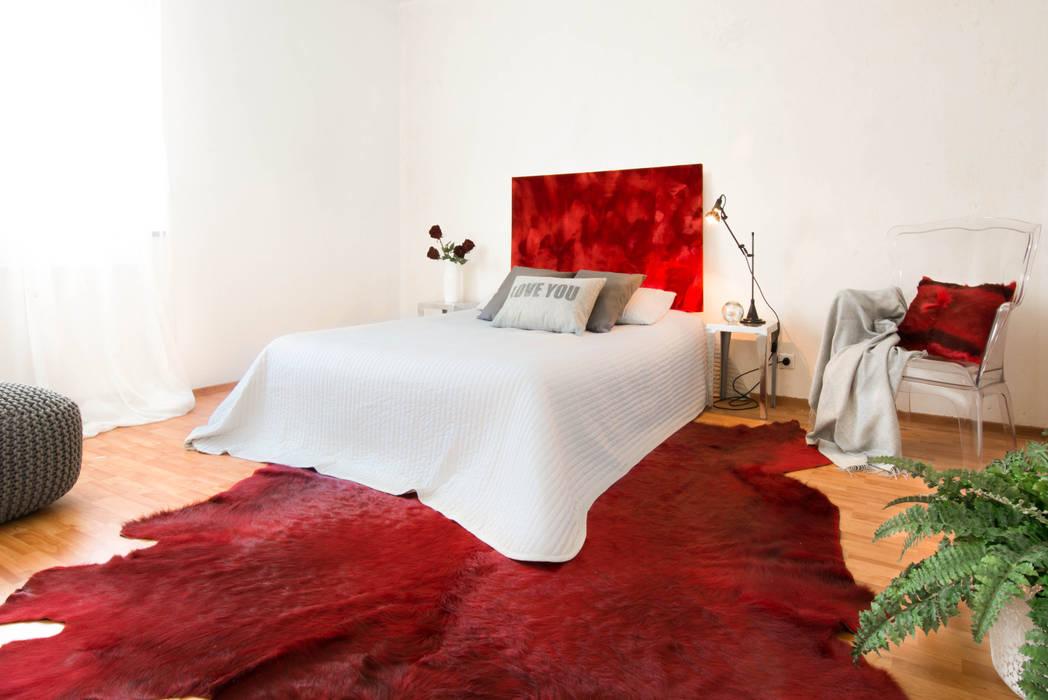Schlafzimmer nachher: moderne Schlafzimmer von Luna Homestaging