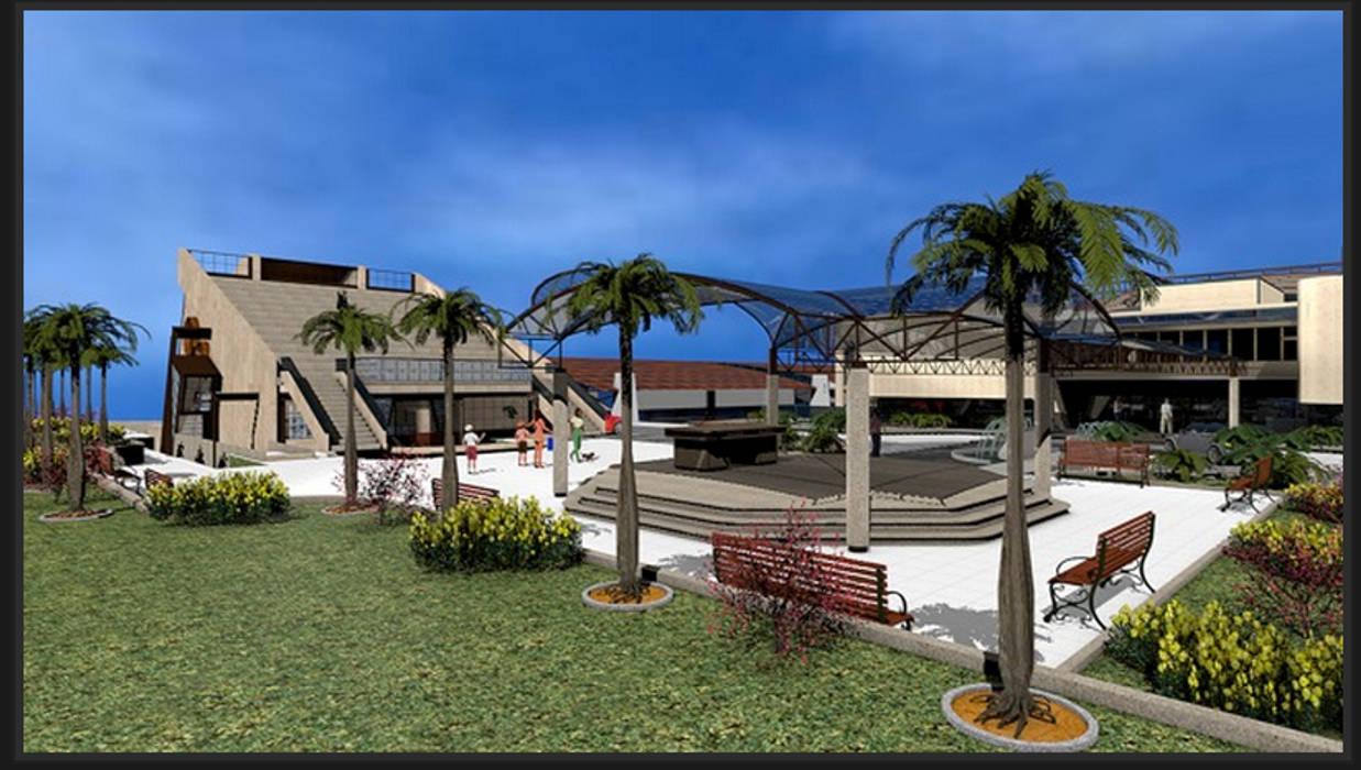 Plaza de la entrada: Palacios de congresos de estilo  de CADOT