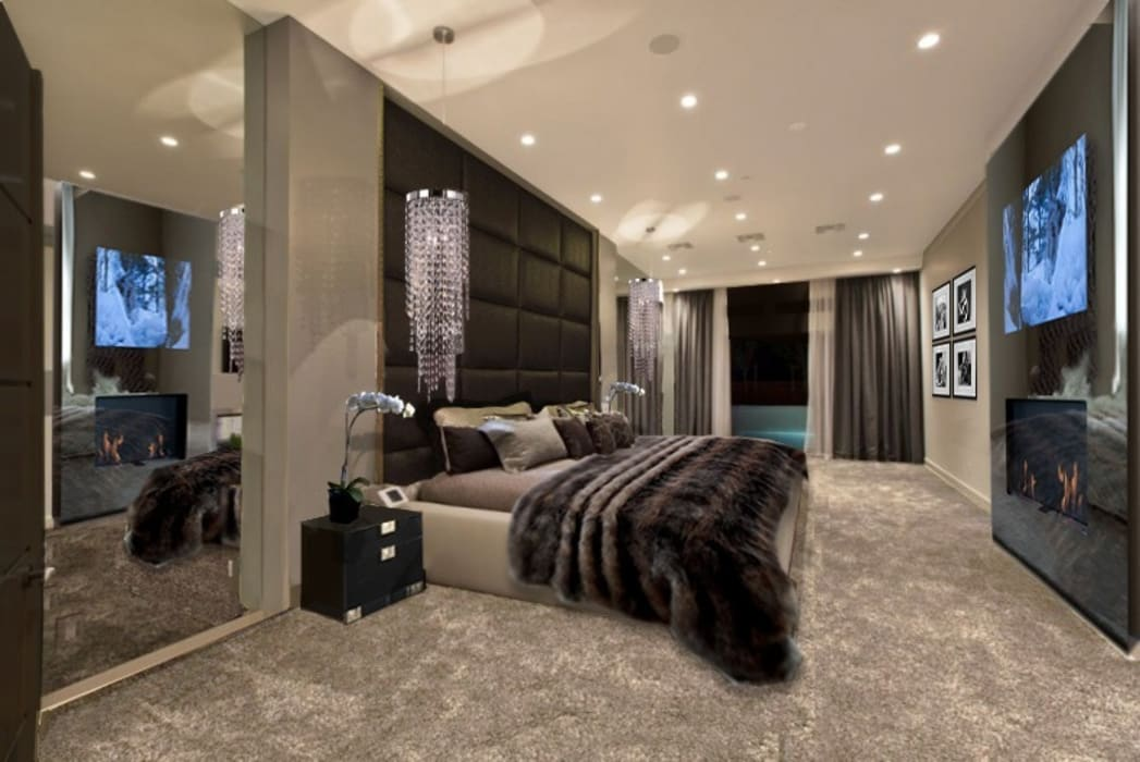 GLAMOUR BEDROOM: modern Bedroom by The Interior Design Studio