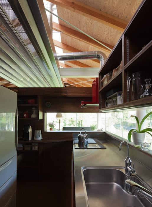 Industrial style kitchen by H2O設計室 ( H2O Architectural design office ) Industrial