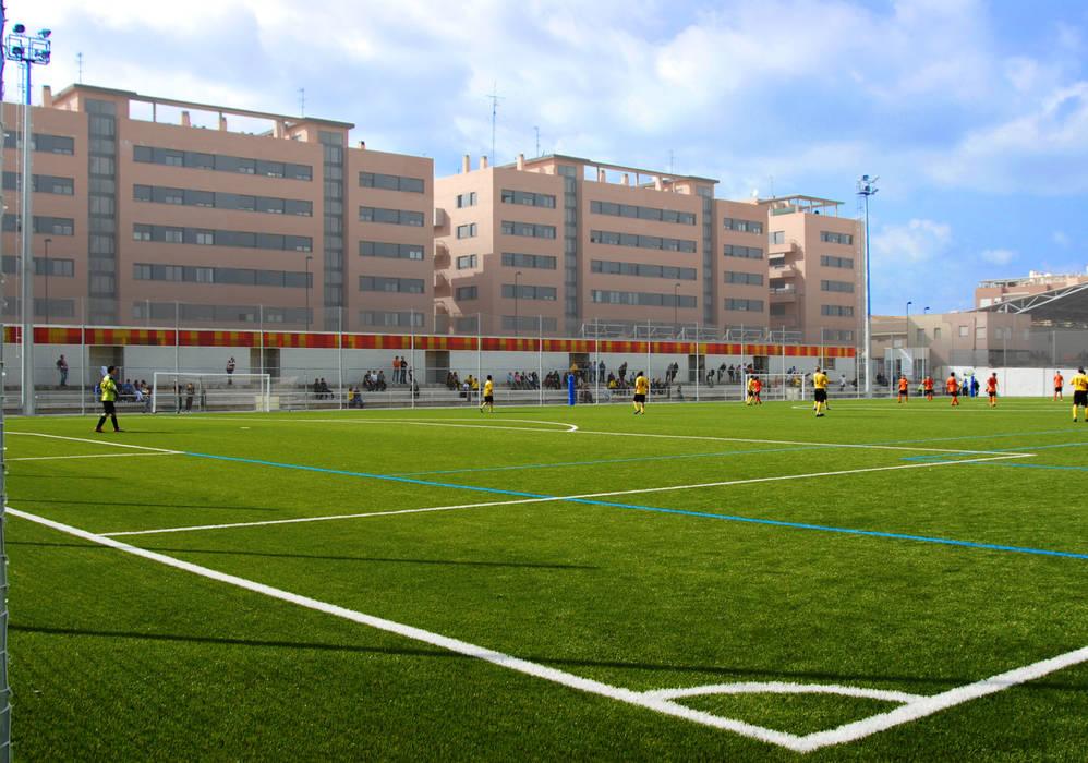 Vestuarios y campo de fútbol San Gregorio B_01 Estadios de miguel cosín