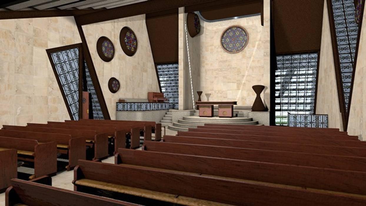 Capilla: Palacios de congresos de estilo  de CADOT