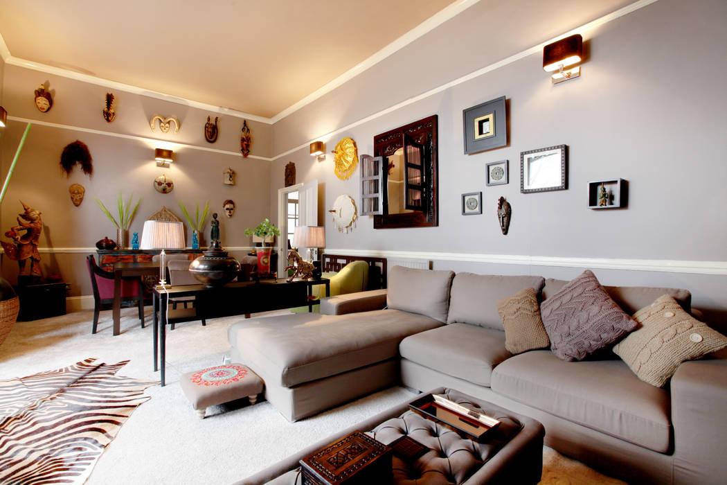 Living Room Studio D. Interiors Asiatische Wohnzimmer