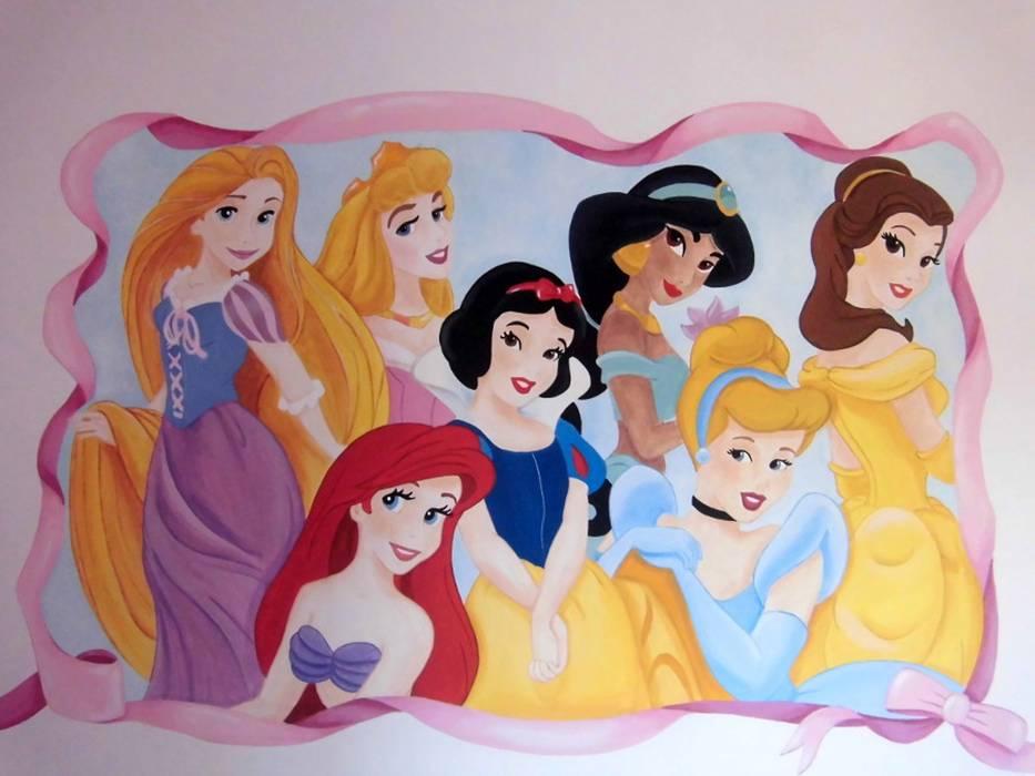 Cameretta Disney: Stanza dei bambini in stile in stile Moderno di INTERNO78.IT - DECORAZIONI D'INTERNI