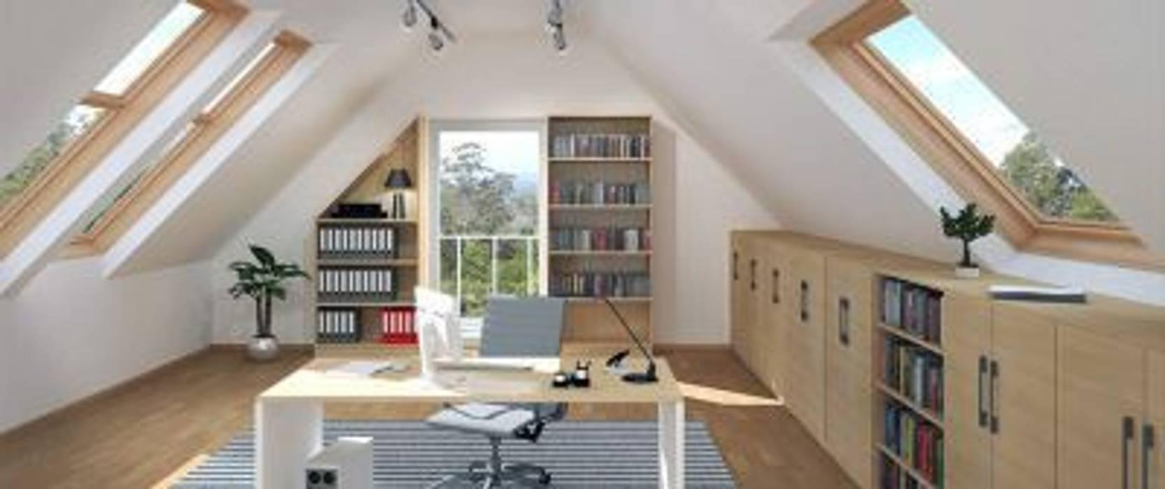 regal und schr nke unter der dachschr ge arbeitszimmer. Black Bedroom Furniture Sets. Home Design Ideas