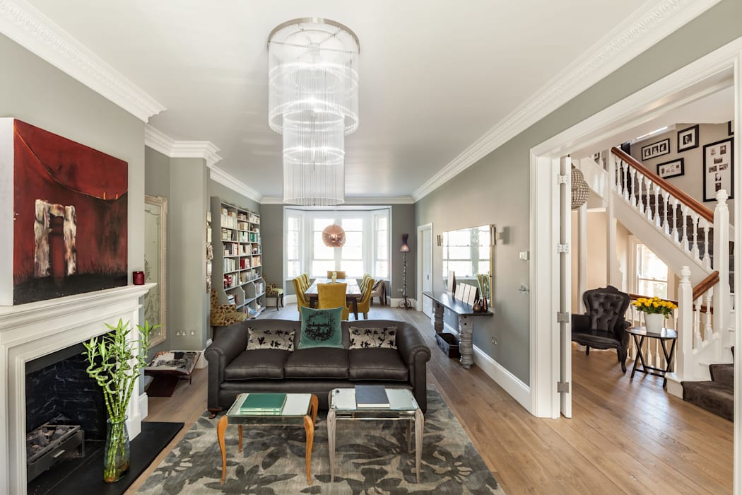 Trinity Hall Modern Living Room by Riach Architects Modern