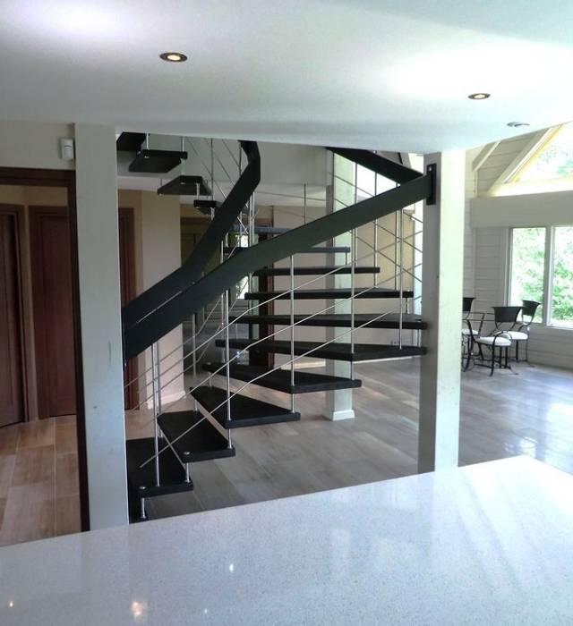 Escalier épuré Couloir, entrée, escaliers modernes par ASCENSO Moderne