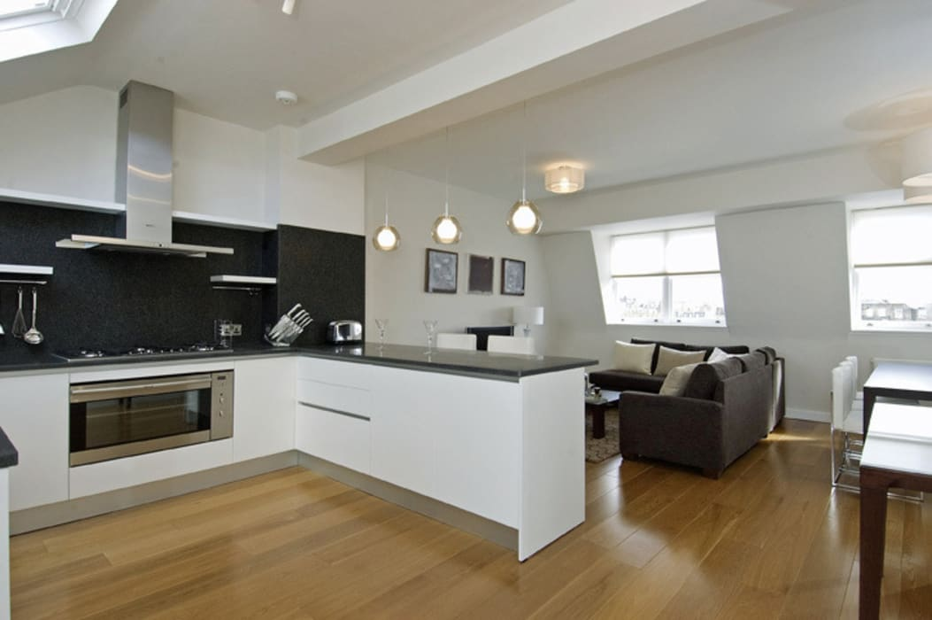 ​PROJECT: A 2-bed apartment in Bayswater. Modern kitchen by Anna Hansson Design Modern