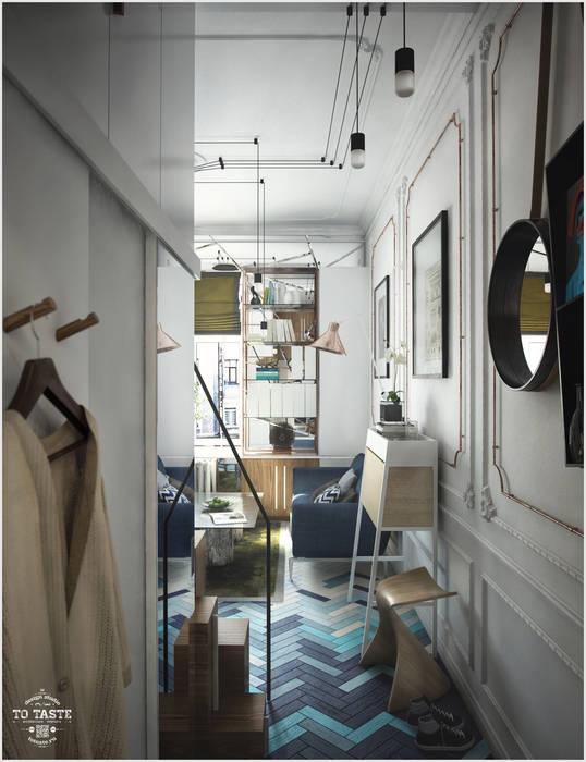 Прихожая Коридор, прихожая и лестница в эклектичном стиле от ToTaste.studio Эклектичный