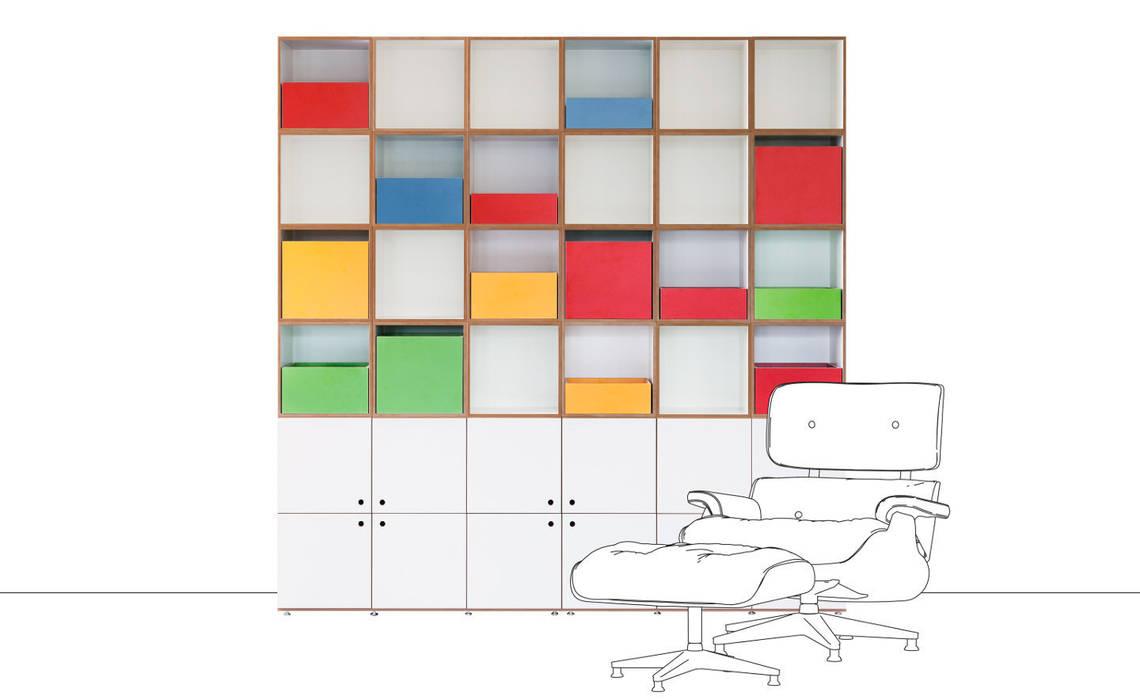 hiện đại  theo stocubo - Das modulare Regalsystem, Hiện đại