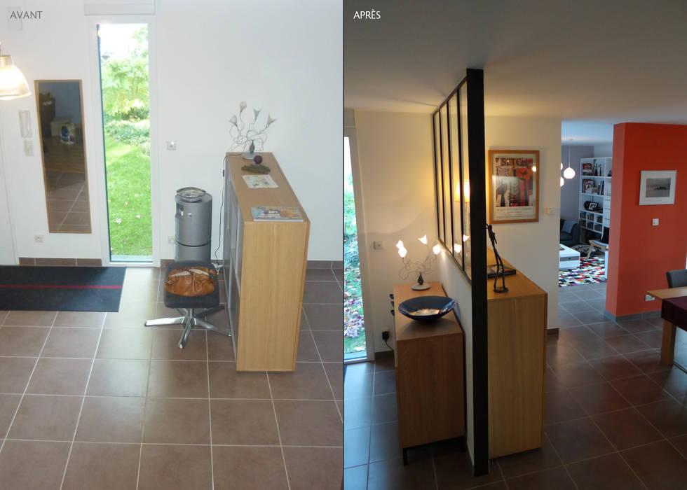 Relooking tendance à orvault: couloir et hall d\'entrée de style par ...