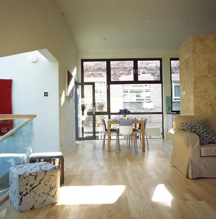 Hart Street House - living room ZONE Architects Rumah: Ide desain interior, inspirasi & gambar