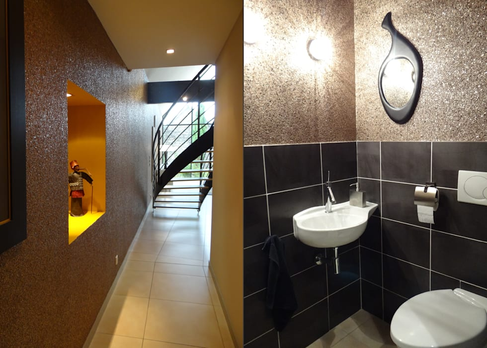 ULTRA DESIGN PRÈS D'ANGERS: Couloir et hall d'entrée de style  par UN AMOUR DE MAISON