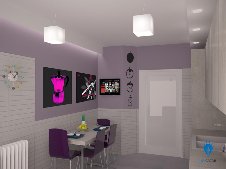 Kitchen BluCACTUS design: Cucina in stile  di blucactus design Studio