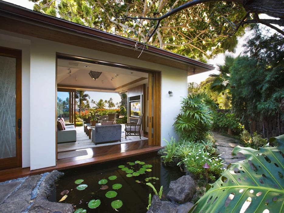 Flugel 180 Straight Sliding Door Hardware Tropical style pool by Coastal Joinery Hardware Tropical