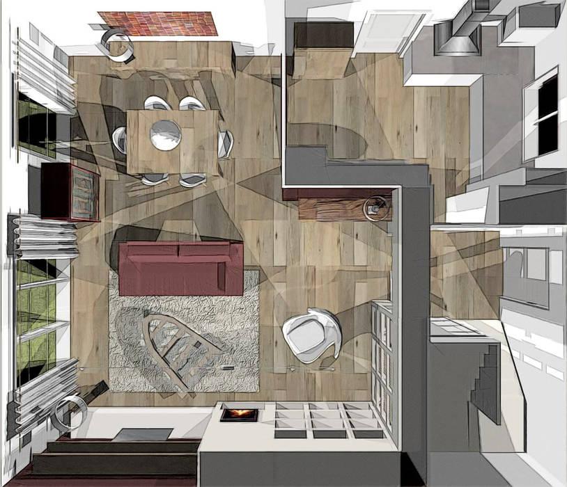 agencement et décoration séjour Salon colonial par agence concept decoration Colonial