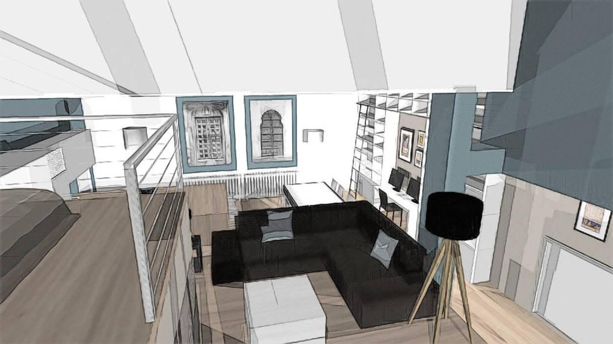 aménagement d'un loft dans une ancienne salle de danse: maisons de