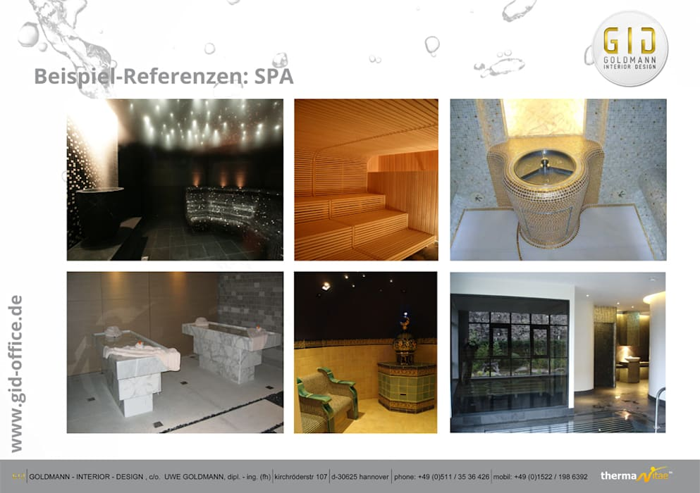 SPA: klassisches Spa von GID│GOLDMANN - INTERIOR - DESIGN
