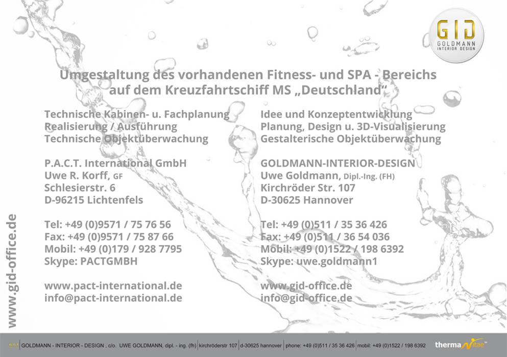 Aufgabe und Adressen:  Spa von GID│GOLDMANN - INTERIOR - DESIGN