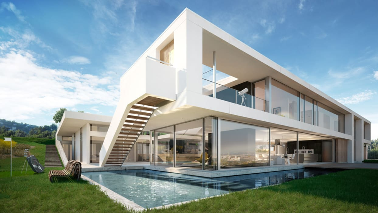 modern Houses by Berga&Gonzalez - arquitectura y render