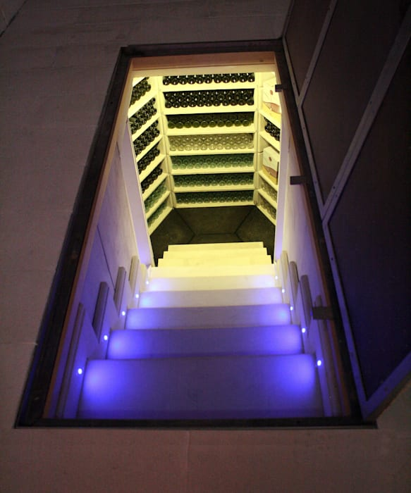 The Large Hexagonal Cellar:  Wine cellar by Stone Cellar Company