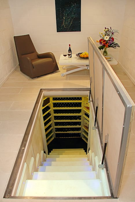 The Large Hexagonal Cellar:  Wine cellar by Stone Cellar Company, Modern