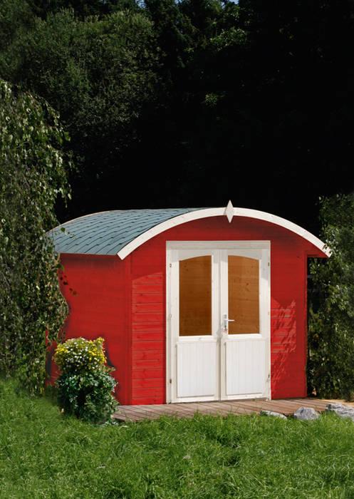 Norderney 28-C Gartenhaus mit Tonnendach von Wolff Finnhaus Moderner Garten von Gartenhaus2000 GmbH Modern
