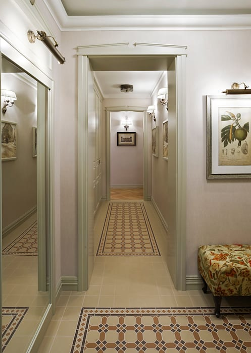 Classic style corridor, hallway and stairs by VVDesign Classic