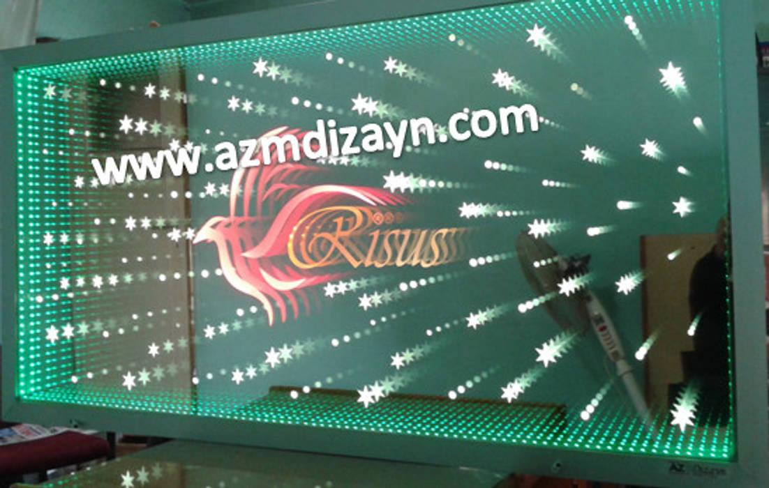 AZM DİZAYN – Sonsuz tavan aynaları firma ve kurumlar için:  tarz Ofis Alanları, Modern