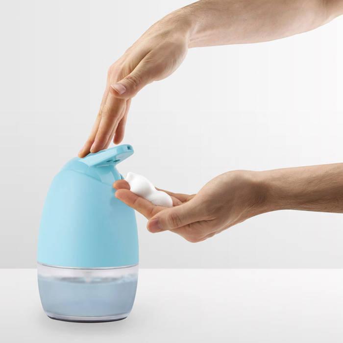 Диспенсер для жидкого мыла Pivot морская волна:  в . Автор – Enjoyme, Минимализм