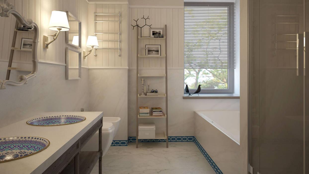 Загородный дом Wright-Park: Ванные комнаты в . Автор – KYD BURO, Эклектичный