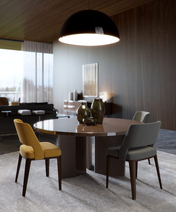 Minotti space:  Living room by Architectural Visualization
